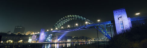 Tyne Bridge Panorama Stock Photography
