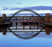 Tyne Bridge Reflection Fotografia Stock