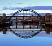 Tyne Bridge Reflection. Stock Photography