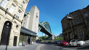 The Tyne Bridge. A timelapse recording of the Tyne Bridge.  The bridge connects Newcastle Upon Tyne and Gateshead in North East England 4k, 25fps stock video footage