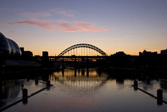The Tyne bridges at sunset Royalty Free Stock Photography