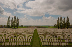 Tyne Cot Cemetary. The Tyne Cot war cemetary in Passendaele, Belgium Stock Photography
