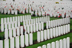 Tyne Cot cemetery Stock Photo