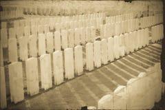 Tyne Cot Cemetery en la guerra mundial de Ypres Bélgica Flandes Imágenes de archivo libres de regalías