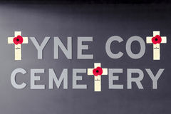 Tyne cot cemetery poppy flanders fields world war one Royalty Free Stock Photos