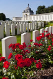 Tyne Cot Cemetery in Ypres Royalty Free Stock Images