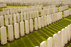 THe Tyne Cot Cemetery in Ypres world war belgium flanders Royalty Free Stock Photography