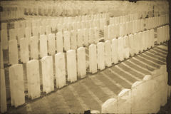 THe Tyne Cot Cemetery in Ypres world war belgium flanders Royalty Free Stock Images