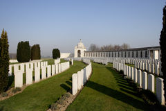Tyne Cot Military Cemetery in Belgium Stock Photos