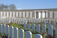 Tyne Cot: war cemetery Royalty Free Stock Photo