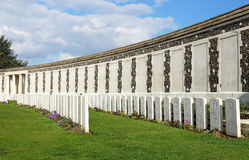 Tyne Cot War Cemetery, Belgium Stock Images