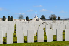 Tyne Cot. War graves at Tyne Cot royalty free stock photo