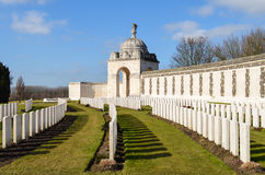 Tyne Cot. War graves at Tyne Cot royalty free stock image
