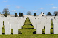 Tyne Cot. War graves at Tyne Cot royalty free stock images