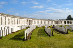 Tyne Cot. War graves at Tyne Cot royalty free stock photography