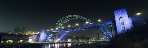 Tyne mosta panorama Fotografia Stock
