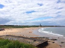 tyne mouth beach Stock Photo