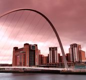 Tyne river millenium bridge Royalty Free Stock Photo
