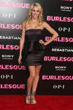 "Tyne Stecklein chega na premier ""Burlesque"" do LA imagem de stock"