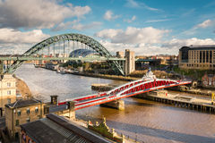 Tyne and Swing Bridges from above Stock Photos