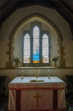 Tyneham教会 免版税库存照片