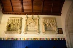 Tyneham教会 库存照片