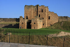 Tynemouth castle. Tynemouth Prior and castle with railings at the front Tyne and Wear Royalty Free Stock Image