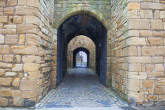 Tynemouth Castle entrance Stock Photos