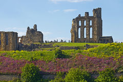 Tynemouth Castle and Priory Stock Image