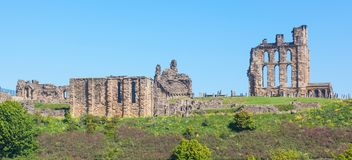 Tynemouth Castle and Priory. Overlooking the North Sea and the River Tyne, Tynemouth Castle and Priory on the coast of North East England was once one of the Royalty Free Stock Photography