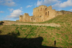 Tynemouth castle2. View of tynemouth castle from the south Stock Photos