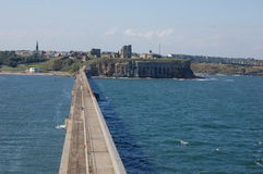 Tynemouth du haut du phare de pilier Photographie stock