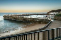 Tynemouth Lido w Północnym morzu zdjęcie royalty free