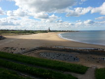 Tynemouth Longsands. Tynemouth beach,  North east of England.  Newcastle,  longsands Royalty Free Stock Images