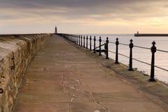 Tynemouth north pier Royalty Free Stock Photo