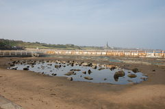 Tynemouth outdoor pool. The derelict pool at Tynemouth Royalty Free Stock Photo