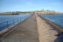 Tynemouth-Pier, der West schaut Stockfotografie