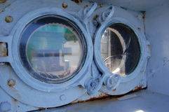 Tynemouth pier lighthouse portholes Stock Images