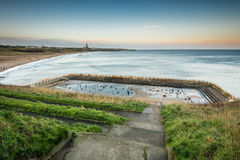 Tynemouth Pool and sea Stock Image