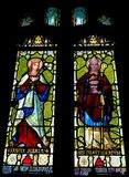 Tynemouth priorsklosterfläck Glass Windows Arkivbilder