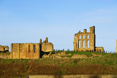 tynemouth priory замока Стоковые Фотографии RF
