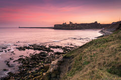 Tynemouth Priory and Castle at dusk Stock Image