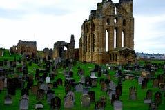 Tynemouth Priory i kasztel fotografia royalty free