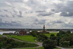 Tynemouth Priory i kasztel, Północny Anglia obraz royalty free