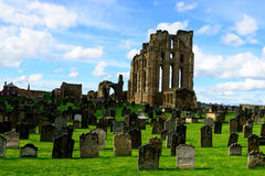 Tynemouth priory. The ruined priory at Tynemouth. Taken April 2014 Royalty Free Stock Image
