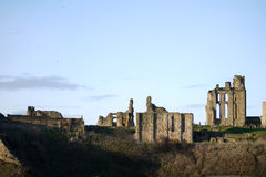 Tynemouth priory. The ruins of Tynemouth Priory on the Northumberland coastline Royalty Free Stock Photo