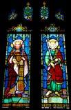 Tynemouth Priory Stain Glass Windows Royalty Free Stock Image