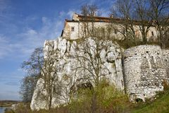 Tyniec Abbey Fotografering för Bildbyråer