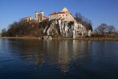 Tyniec - benedictineabdij, dichtbij Krakau, Polen Stock Foto