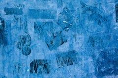 Tynków majcherów farby tła błękita wzoru czerni ściennego ulicznego starego zmroku rocznika niewyraźny grunge Fotografia Stock